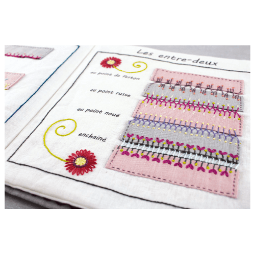 cahier broderie points broderie